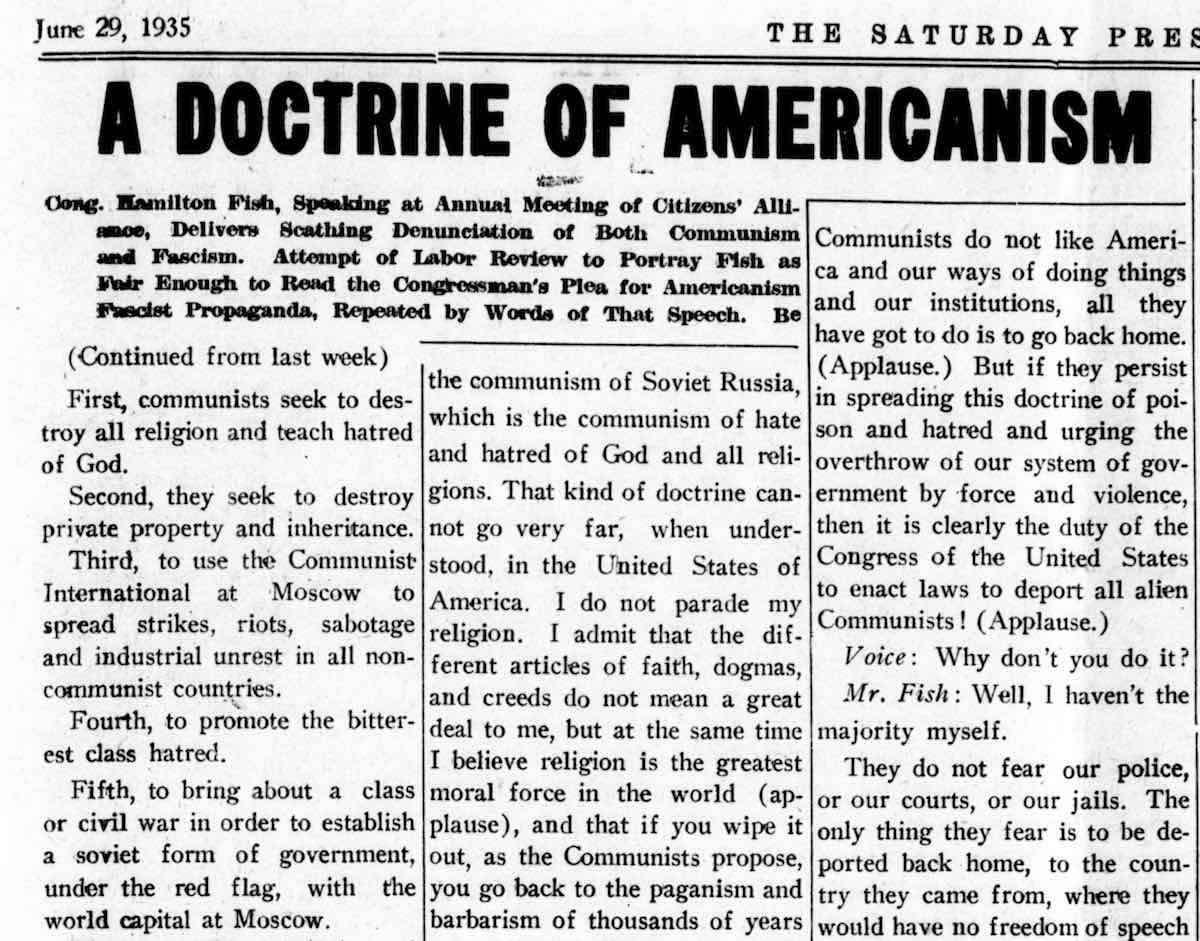 A Doctrine of Americanism