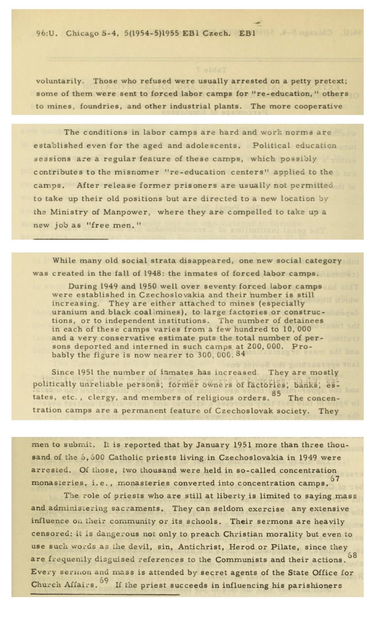 A study of contemporary Czechoslovakia, 1955